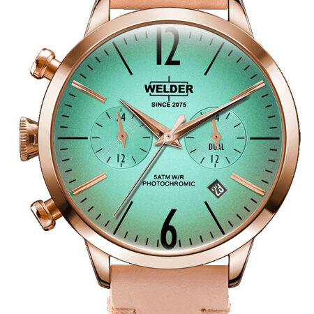 Ρολόι WELDER Moody Rose Gold Pink Leather Strap WWRC100
