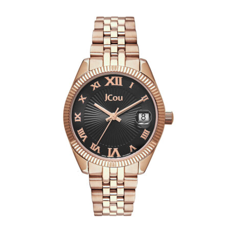 JCou Queen's Mini Rose Gold Stainless Steel Bracelet JU17031-8