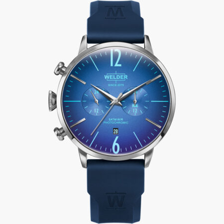 Ρολόι WELDER Moody Multifunction Blue Rubber Strap WWRC514